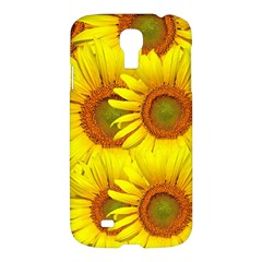 Sunflowers Background Wallpaper Pattern Samsung Galaxy S4 I9500/i9505 Hardshell Case by Nexatart