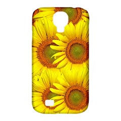 Sunflowers Background Wallpaper Pattern Samsung Galaxy S4 Classic Hardshell Case (pc+silicone) by Nexatart