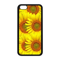 Sunflowers Background Wallpaper Pattern Apple Iphone 5c Seamless Case (black) by Nexatart