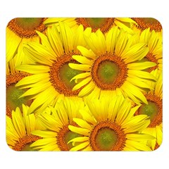 Sunflowers Background Wallpaper Pattern Double Sided Flano Blanket (small)