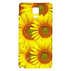 Sunflowers Background Wallpaper Pattern Galaxy Note 4 Back Case