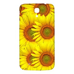 Sunflowers Background Wallpaper Pattern Samsung Galaxy Mega I9200 Hardshell Back Case by Nexatart