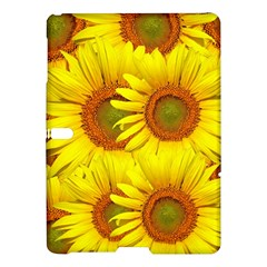 Sunflowers Background Wallpaper Pattern Samsung Galaxy Tab S (10 5 ) Hardshell Case  by Nexatart