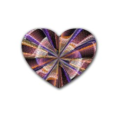 Background Image With Wheel Of Fortune Heart Coaster (4 Pack)