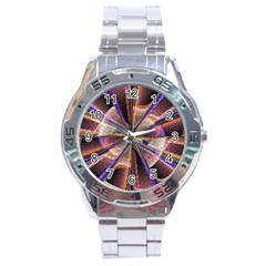 Background Image With Wheel Of Fortune Stainless Steel Analogue Watch by Nexatart