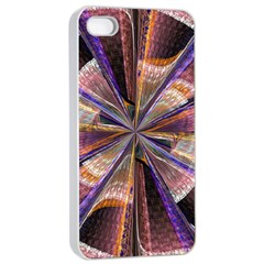Background Image With Wheel Of Fortune Apple Iphone 4/4s Seamless Case (white)