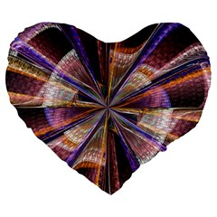 Background Image With Wheel Of Fortune Large 19  Premium Heart Shape Cushions by Nexatart