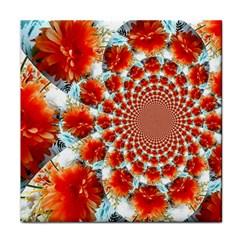 Stylish Background With Flowers Tile Coasters