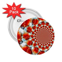 Stylish Background With Flowers 2 25  Buttons (10 Pack)  by Nexatart