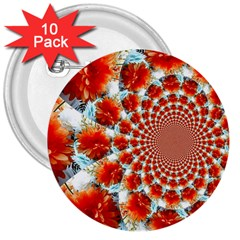 Stylish Background With Flowers 3  Buttons (10 Pack)  by Nexatart