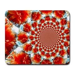 Stylish Background With Flowers Large Mousepads