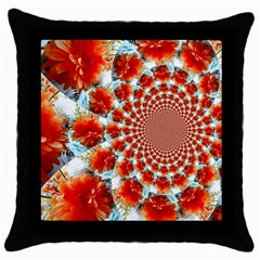 Stylish Background With Flowers Throw Pillow Case (black)