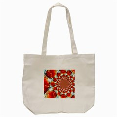 Stylish Background With Flowers Tote Bag (cream) by Nexatart