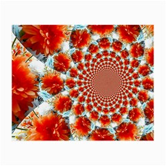 Stylish Background With Flowers Small Glasses Cloth (2 Side)