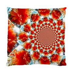Stylish Background With Flowers Standard Cushion Case (two Sides) by Nexatart