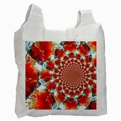 Stylish Background With Flowers Recycle Bag (two Side)  by Nexatart