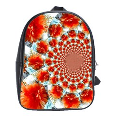 Stylish Background With Flowers School Bags(large)