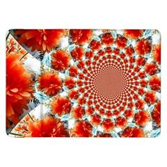 Stylish Background With Flowers Samsung Galaxy Tab 8 9  P7300 Flip Case