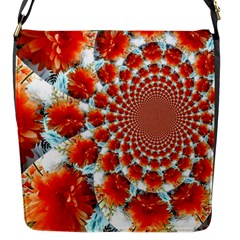 Stylish Background With Flowers Flap Messenger Bag (s)