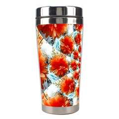 Stylish Background With Flowers Stainless Steel Travel Tumblers by Nexatart