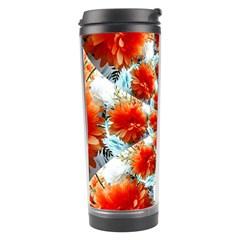 Stylish Background With Flowers Travel Tumbler by Nexatart