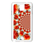Stylish Background With Flowers Samsung Galaxy Note 3 N9005 Case (White) Front