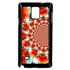 Stylish Background With Flowers Samsung Galaxy Note 4 Case (black) by Nexatart
