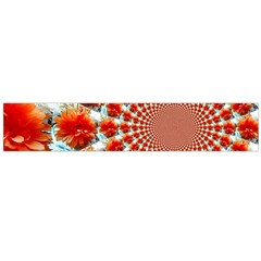 Stylish Background With Flowers Flano Scarf (large) by Nexatart