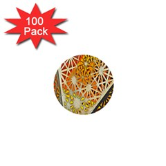 Abstract Starburst Background Wallpaper Of Metal Starburst Decoration With Orange And Yellow Back 1  Mini Buttons (100 Pack)