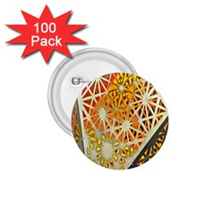 Abstract Starburst Background Wallpaper Of Metal Starburst Decoration With Orange And Yellow Back 1 75  Buttons (100 Pack)  by Nexatart