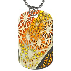Abstract Starburst Background Wallpaper Of Metal Starburst Decoration With Orange And Yellow Back Dog Tag (one Side) by Nexatart