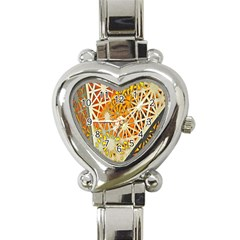 Abstract Starburst Background Wallpaper Of Metal Starburst Decoration With Orange And Yellow Back Heart Italian Charm Watch