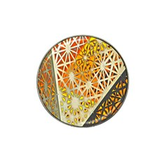 Abstract Starburst Background Wallpaper Of Metal Starburst Decoration With Orange And Yellow Back Hat Clip Ball Marker (4 Pack)