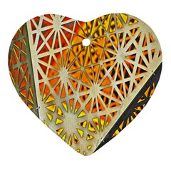 Abstract Starburst Background Wallpaper Of Metal Starburst Decoration With Orange And Yellow Back Heart Ornament (two Sides)