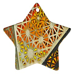 Abstract Starburst Background Wallpaper Of Metal Starburst Decoration With Orange And Yellow Back Star Ornament (two Sides) by Nexatart