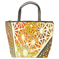 Abstract Starburst Background Wallpaper Of Metal Starburst Decoration With Orange And Yellow Back Bucket Bags by Nexatart