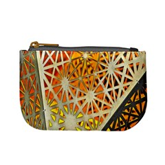 Abstract Starburst Background Wallpaper Of Metal Starburst Decoration With Orange And Yellow Back Mini Coin Purses