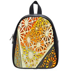 Abstract Starburst Background Wallpaper Of Metal Starburst Decoration With Orange And Yellow Back School Bags (small)  by Nexatart