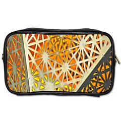 Abstract Starburst Background Wallpaper Of Metal Starburst Decoration With Orange And Yellow Back Toiletries Bags 2 Side by Nexatart