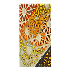 Abstract Starburst Background Wallpaper Of Metal Starburst Decoration With Orange And Yellow Back Shower Curtain 36  X 72  (stall)  by Nexatart