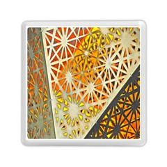 Abstract Starburst Background Wallpaper Of Metal Starburst Decoration With Orange And Yellow Back Memory Card Reader (square)  by Nexatart