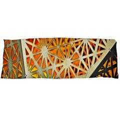 Abstract Starburst Background Wallpaper Of Metal Starburst Decoration With Orange And Yellow Back Body Pillow Case Dakimakura (two Sides)