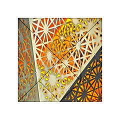 Abstract Starburst Background Wallpaper Of Metal Starburst Decoration With Orange And Yellow Back Acrylic Tangram Puzzle (4  X 4 ) by Nexatart