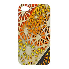 Abstract Starburst Background Wallpaper Of Metal Starburst Decoration With Orange And Yellow Back Apple Iphone 4/4s Premium Hardshell Case by Nexatart