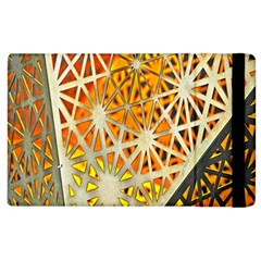 Abstract Starburst Background Wallpaper Of Metal Starburst Decoration With Orange And Yellow Back Apple Ipad 2 Flip Case