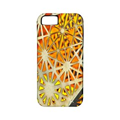 Abstract Starburst Background Wallpaper Of Metal Starburst Decoration With Orange And Yellow Back Apple Iphone 5 Classic Hardshell Case (pc+silicone)