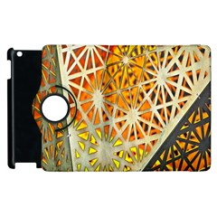 Abstract Starburst Background Wallpaper Of Metal Starburst Decoration With Orange And Yellow Back Apple Ipad 3/4 Flip 360 Case by Nexatart