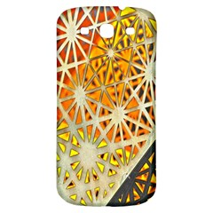 Abstract Starburst Background Wallpaper Of Metal Starburst Decoration With Orange And Yellow Back Samsung Galaxy S3 S Iii Classic Hardshell Back Case by Nexatart