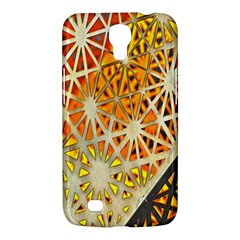 Abstract Starburst Background Wallpaper Of Metal Starburst Decoration With Orange And Yellow Back Samsung Galaxy Mega 6 3  I9200 Hardshell Case by Nexatart