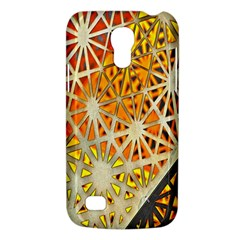 Abstract Starburst Background Wallpaper Of Metal Starburst Decoration With Orange And Yellow Back Galaxy S4 Mini by Nexatart